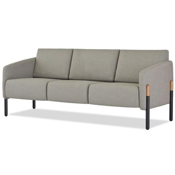 Pax Sofa with Metal Leg Sleeves PLS-3